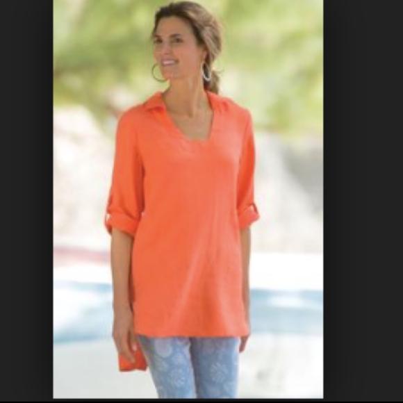 Soft Surroundings Tops - Soft Surroundings Morgana Tunic Fiery Orange